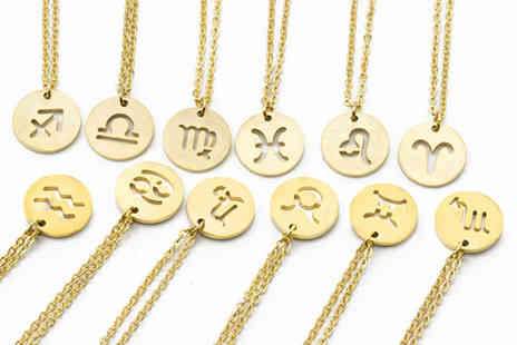 Your Ideal Gift - Horoscope pendant necklace - Save 82%