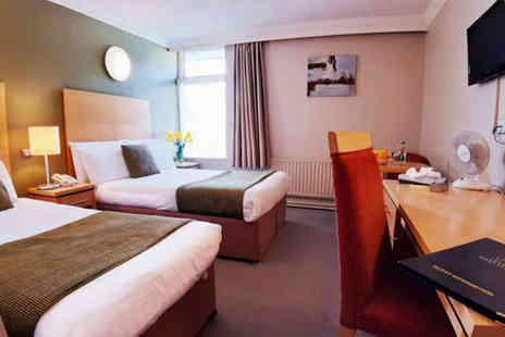 The West County Hotel - Overnight stay for two people with a welcome drink, breakfast, two course dinner and leisure access - Save 33%