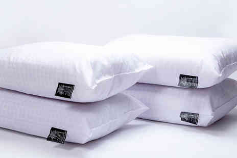 Direct Warehouse - Embossed hollow fibre pillows or Four pillows or Six pillows or eight pillows - Save 76%
