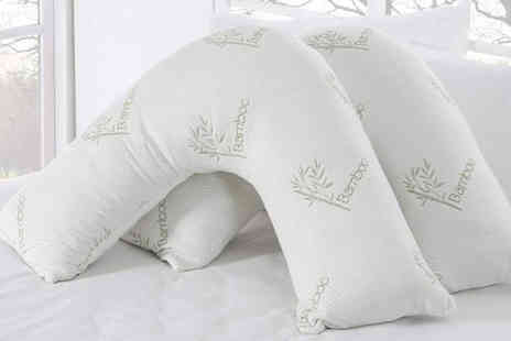 Direct Warehouse - V Shape bamboo memory foam pillow - Save 57%