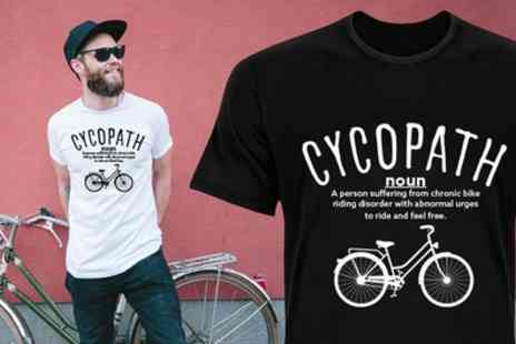 Groupon Goods Global GmbH - One or Two Mens Cycopath Print Cotton Tshirts - Save 80%