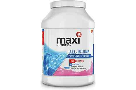 Groupon Goods Global GmbH - MaxiNutrition All In One Strawberry Powder 990g - Save 60%