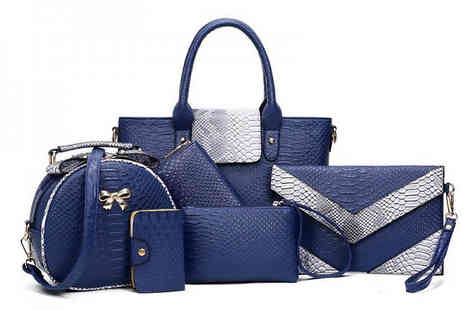 My Blu Fish - Six Piece Handbag Set Choose Three Colours - Save 64%