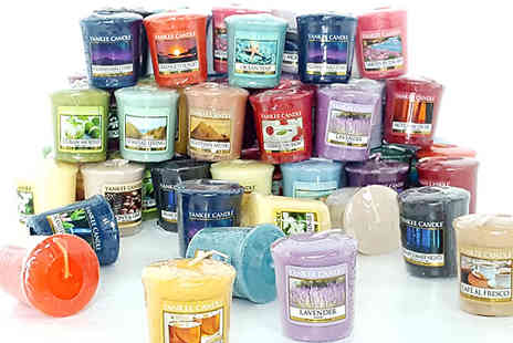 Yankee Bundles - 40 Assorted Yankee Votive Candles - 600 Hours of Burn Time! - Save 60%