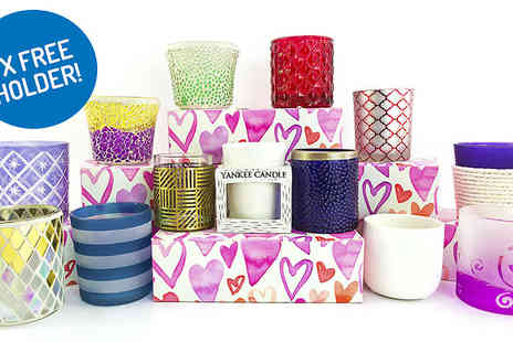 Yankee Bundles - 8 Yankee Candle Votives With Heart Gift Box Plus Votive Holder - Save 44%
