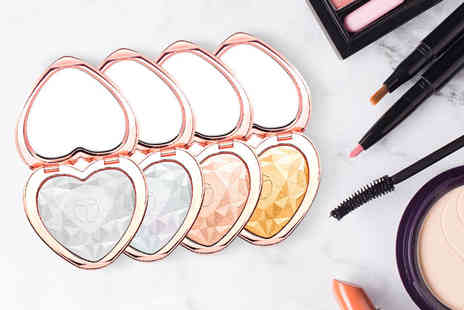 Charles Oscar - Heart shaped highlighter compact choose from four colours - Save 67%
