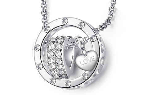 Your Ideal Gift - Heart charm ring pendant necklace choose from 16 charms - Save 86%