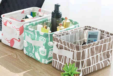 Backtogoo - Patterned storage box choose from six designs - Save 75%