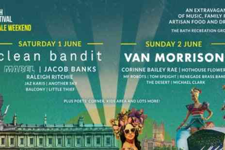 Orchard Live - One day or weekend junior or adult ticket to Bath Festival Finale on 1 To 2 June - Save 0%