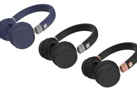 Groupon Goods Global GmbH - Kitsound Harlem Over Ear Bluetooth Headphones - Save 20%
