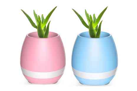 Groupon Goods Global GmbH - One or Two Flower Pot Wireless Bluetooth Speakers - Save 50%