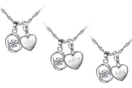 Groupon Goods Global GmbH - Necklace and Earrings Set with Crystals from Swarovski - Save 0%