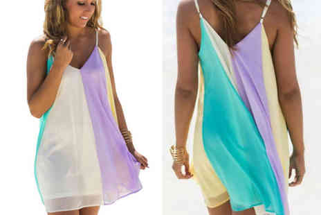Bellap - Floaty rainbow beach dress - Save 73%