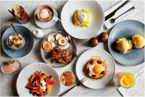 St Pancras Brasserie - Two Course Sunday Brunch with Free Flowing Sparkling Wine for Two - Save 0%