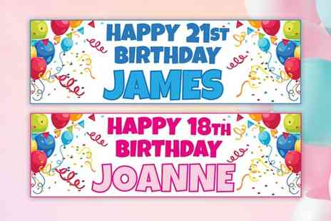 Deco Matters - Personalised birthday banner - Save 80%