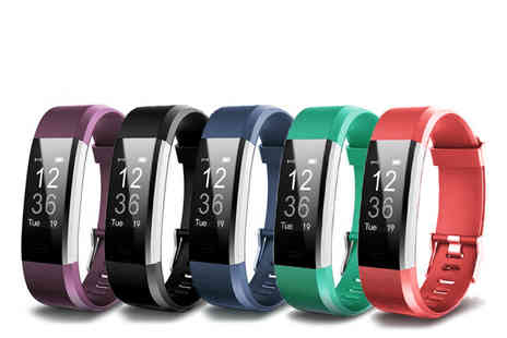 Hey4Beauty - VeryFit ID115 Bluetooth smart watch choose from five colours - Save 85%