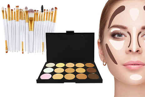 Forever Cosmetics - 35 piece contour makeup palette and brush set - Save 83%