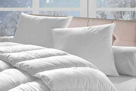Direct Warehouse - 15 tog winter duvet and four pillows, double, king or super king - Save 75%