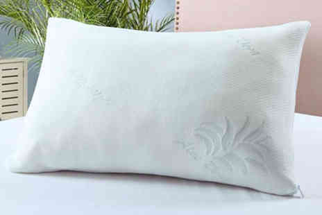 Direct Warehouse - Aloe vera memory foam pillow or Two pillows - Save 74%
