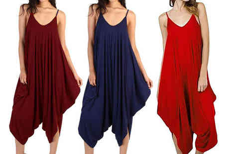 Verso Fashion - Baggy harem jumpsuit choose from six colours - Save 80%