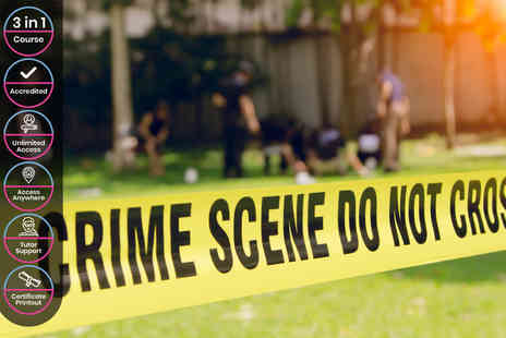 Alpha Academy - CPD & IAO Accredited Online Forensic Science Criminology & Profiling Course - Save 95%