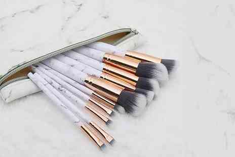 Buy Something - 10 piece marble make-up brush set - Save 60%