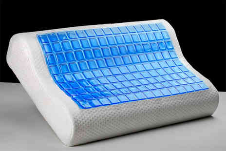 Direct Warehouse - One contour cooling gel memory foam pillow - Save 67%
