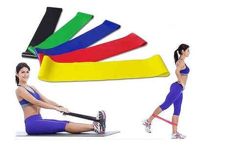 Domo Secret - Six pack of resistance exercise bands - Save 65%