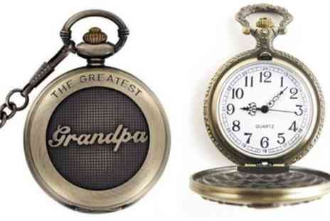 Groupon Goods Global GmbH - Worlds Greatest Dad or Grandad Pocket Watch - Save 0%