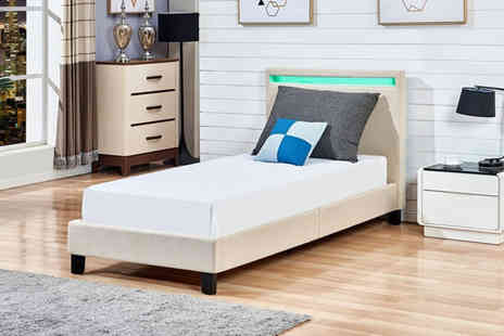 Bells Bay - Led bed frame choose from three sizes - Save 61%