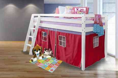 Bells Bay - Childrens bunk bed with a tent curtain - Save 43%