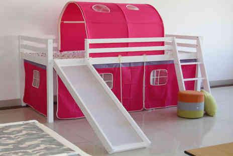 Bells Bay - Kids mid sleeper bed with slide and ladder - Save 55%