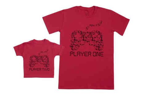 Zarlivia - Matching player one and player two t shirts choose from two colours - Save 0%