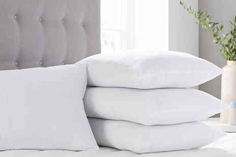 Direct Warehouse - Four breathable 100% cotton pillows - Save 80%