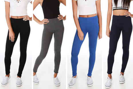 Pretty Fashion - Pair of jersey leggings choose from four colours - Save 0%