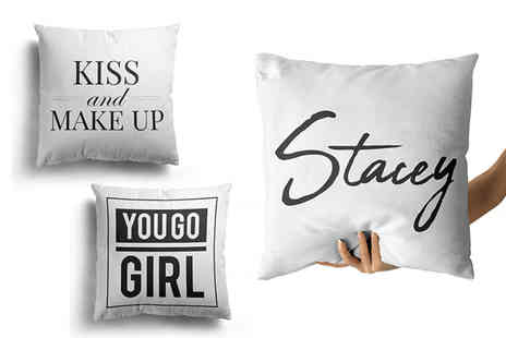 Personalised Gifts Market - Personalised cushion cover - Save 77%