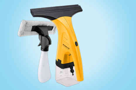 Who Needs Shops - Cordless window vacuum cleaner with spray bottle wiper - Save 72%