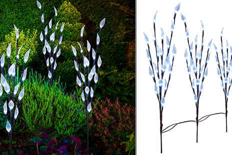 Home Season - Solar Powered Led Leaf Branch Tree Choose Two Colours - Save 73%