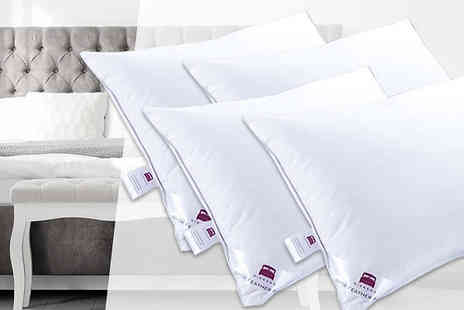 Fusion - Hotel Quality Extra Filled Duck Feather Pillows Choose from 2 or 4 - Save 90%