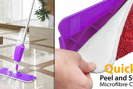 Fusion - 700ml Microfibre Spray Mop Available in 2 Colours - Save 80%