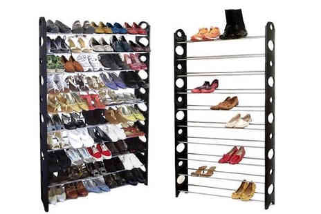Home Season - 50 Pair 10 Tier Shoe Rack - Save 60%