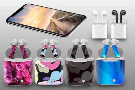 Impress Gadgets - Apple compatible wireless earphones with charging case - Save 87%