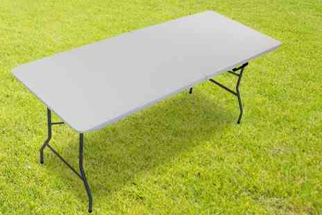 Who Needs Shops - Six foot folding trestle table get outdoors - Save 75%