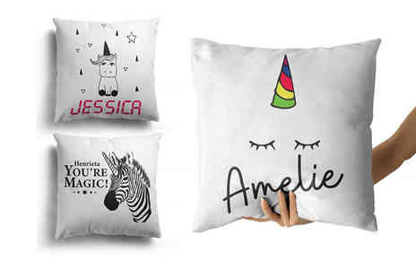Personalised Gifts Market - Personalised childrens cushion cover - Save 77%