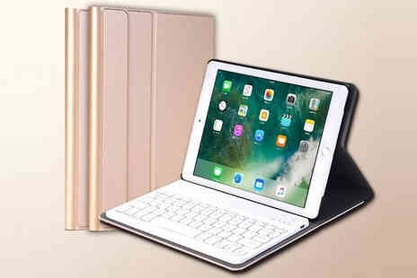 Yellogoods - iPad Compatible Bluetooth Keyboard Case Choose from 4 Colours - Save 92%