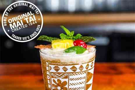 Trader Vics - Four cocktails between two people and two small plates to share with entertainment - Save 60%