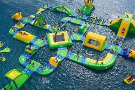 Flipout Aqua Park - Inflatable Water Park Party with Refreshments for Ten Children - Save 20%