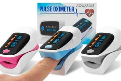 Groupon Goods Global GmbH - One or Two Aquarius Fingertip Blood Pulse Oximeters - Save 52%