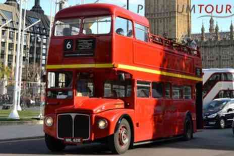 Premium Tours - Vintage Open Top London Double Decker Bus Tour for Child, Adult or Family - Save 60%