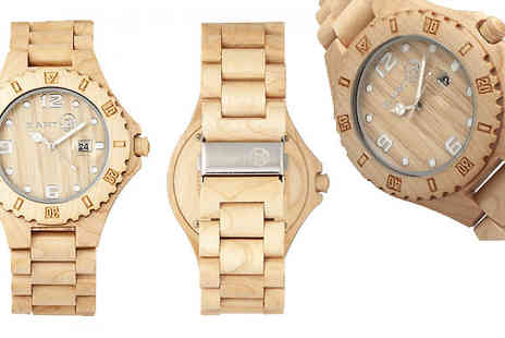 Ideal Deal - Eco Friendly Unisex Earth Wood Watch Available in 4 Colours - Save 67%